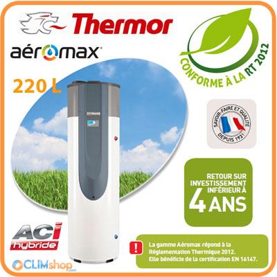 ballon thermodynamique thermor a romax 3 aci 220 litres enr. Black Bedroom Furniture Sets. Home Design Ideas