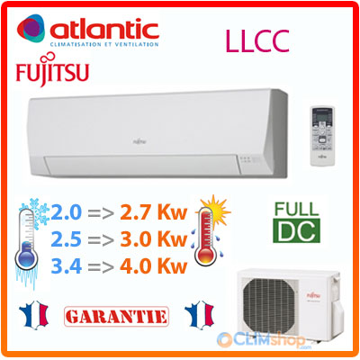 climatisation atlantic fujitsu asyg 7 llcc asyg 9 llcc asyg 12 llcc. Black Bedroom Furniture Sets. Home Design Ideas