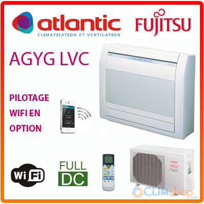 fujitsu agyg9lvc climatisation console double flux pret a poser. Black Bedroom Furniture Sets. Home Design Ideas