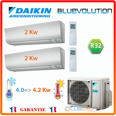 climatisation r versible daikin bi split 2mxm40m 2 ftxm20m r32. Black Bedroom Furniture Sets. Home Design Ideas