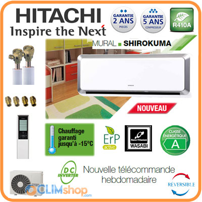 hitachi pompe chaleur air air shirokuma hitachi rak 35pxb et rac 35wxb pr t poser. Black Bedroom Furniture Sets. Home Design Ideas