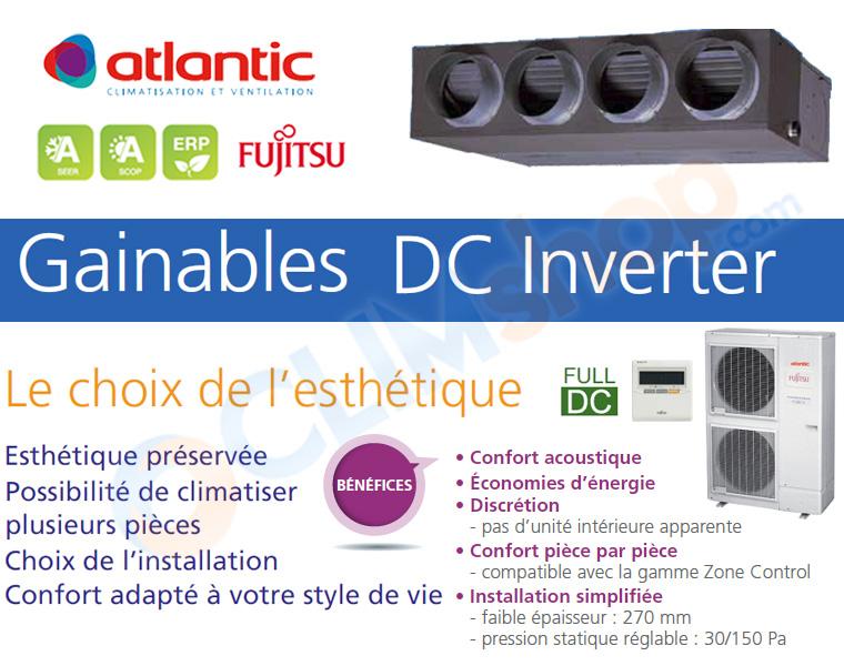 atlantic fujitsu aryg 45 lml climatiseur gainable. Black Bedroom Furniture Sets. Home Design Ideas
