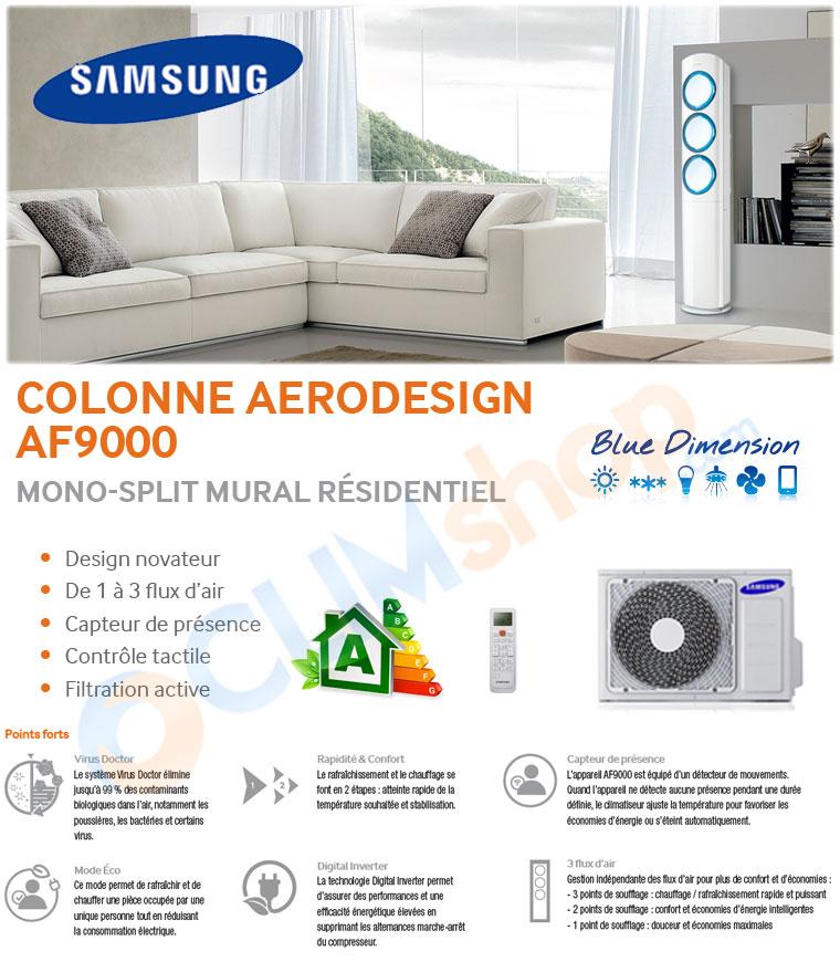 samsung af9000 climatisation colonne aerodesign pr t poser q9000. Black Bedroom Furniture Sets. Home Design Ideas