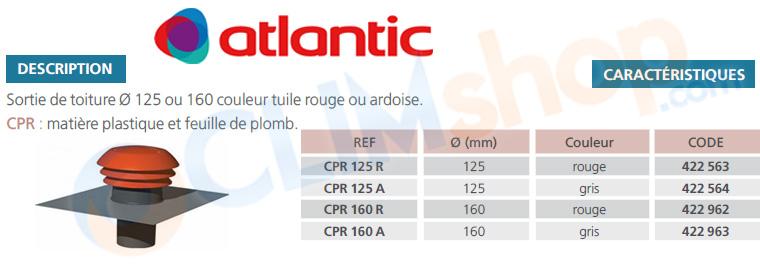 Sortie toiture atlantic cpr tuile ou ardoise for Tuile ou ardoise