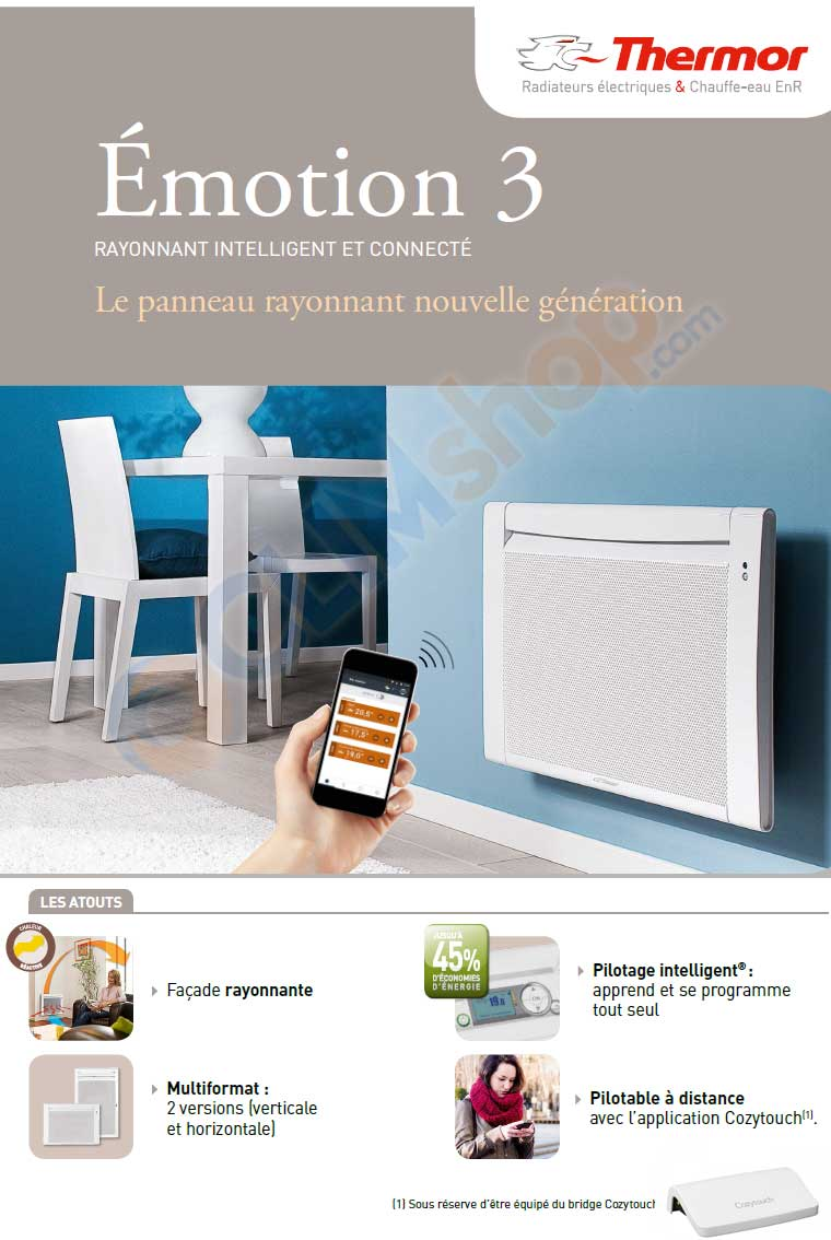 emotion 3 horizontal ou vertical thermor. Black Bedroom Furniture Sets. Home Design Ideas