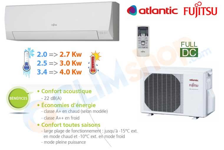 climatisation atlantic fujitsu asyg 7 llcc asyg 9 llcc asyg 12 llcc. Black Bedroom Furniture Sets. Home Design Ideas