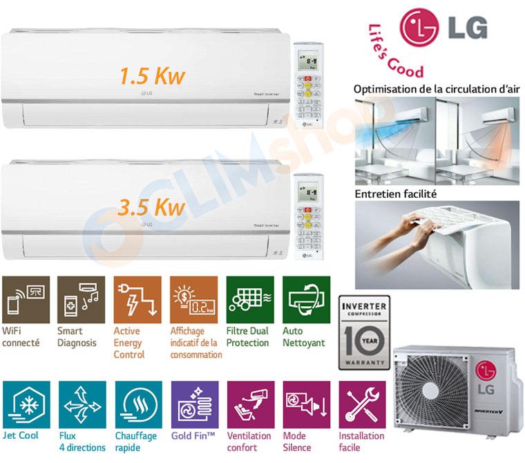 Présentation Bi-split LG MU2M17.UL4 + 1x PM05SP.NSJ + 1x PM12SP.NSJ