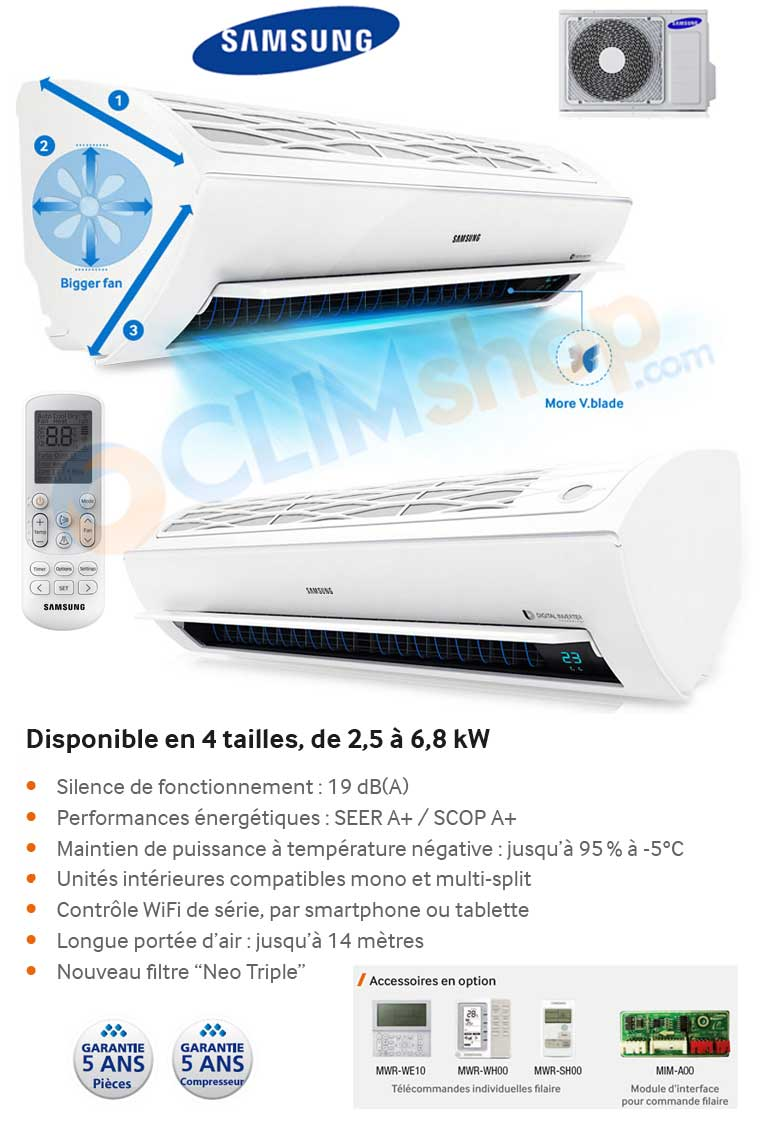 climatiseur r versible samsung ar5500 ar09 ar12 kswsbwknet ar18 ar24 mswsawkneu. Black Bedroom Furniture Sets. Home Design Ideas