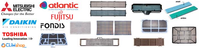 filtres pour climatisation toshiba panasonic hitachi fujitsu mitsubishi fondis samsung lg daikin. Black Bedroom Furniture Sets. Home Design Ideas