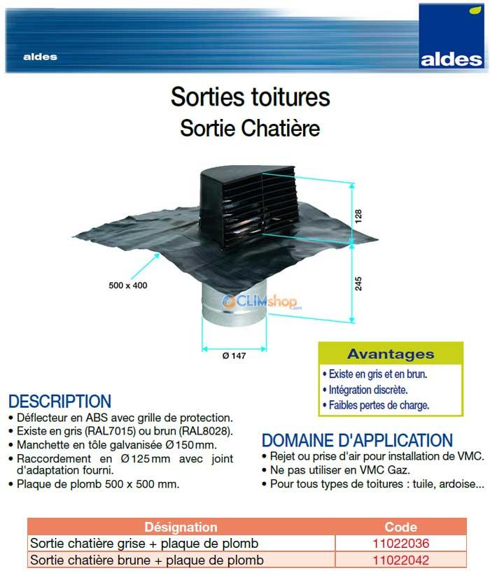 vmc aldes sortie chatiere tous types de toitures. Black Bedroom Furniture Sets. Home Design Ideas