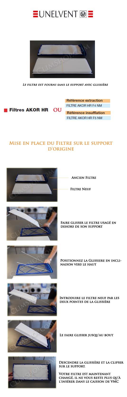 unelvent filtres pour vmc double flux akor hr. Black Bedroom Furniture Sets. Home Design Ideas