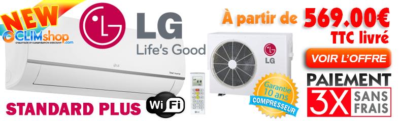 Lg Standard Plus Wifi PM09SP.NSJ - 2.5kw / - PM12SP.NSJ - 3.5kw / - PM18SP.NSK - 5.0kw / PM24SP.NSK - 6.6kw