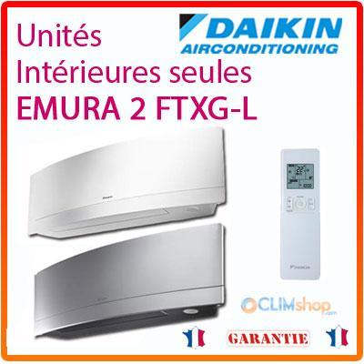 muraux daikin emura 2 ftxg 20lw 25lw 35lw 50lw s. Black Bedroom Furniture Sets. Home Design Ideas