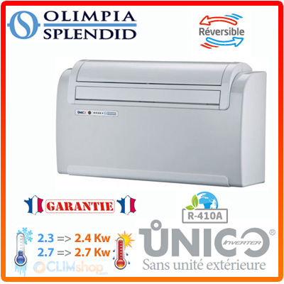 climatisation r versible inverter sans unit ext rieure unico 9 hp et 12 hp olimpia splendid. Black Bedroom Furniture Sets. Home Design Ideas