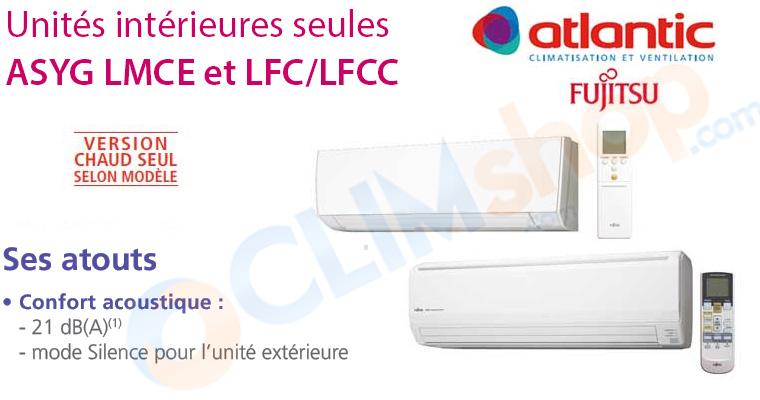 Unités intérieures de climatisation Atlantic pour configuration multisplit