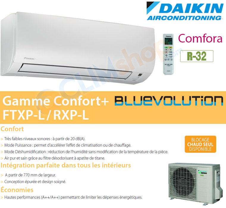 Présentation gamme climatisation FTXP-L Daikin R32