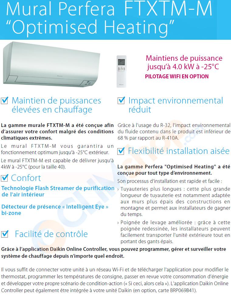 Présentation de la nouvelle gamme de climatisation Daikin spécial grand froid, les muraux PERFERA