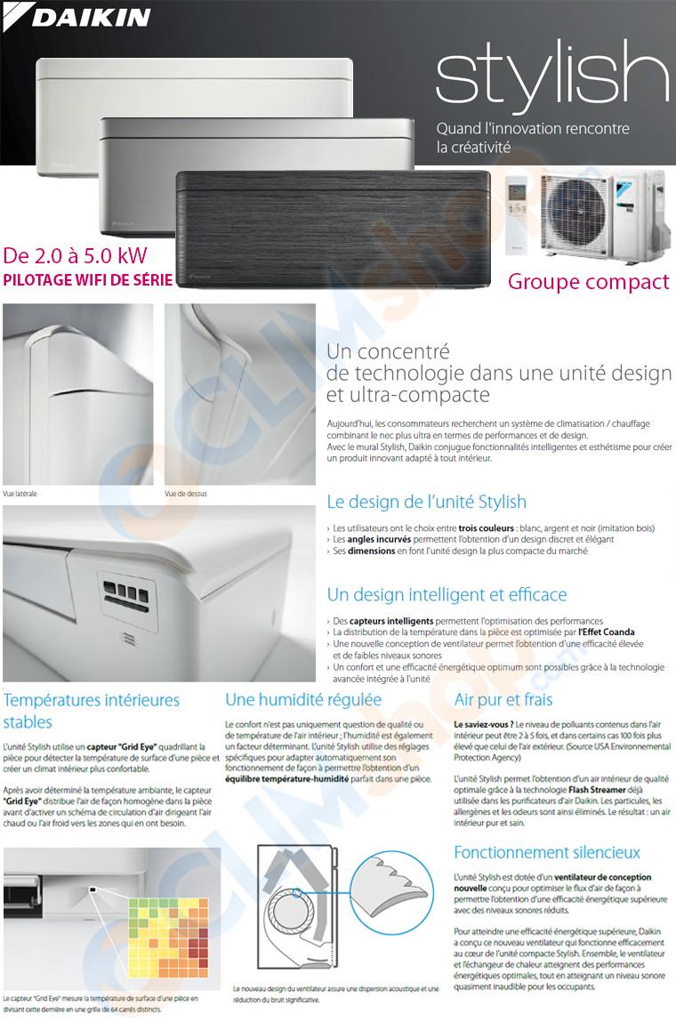 Présentation de la nouvelle gamme de climatiseurs muraux Daikin Stylish FTXA20A - FTXA25A - FTXA35A - FTXA42A - FTXA50A