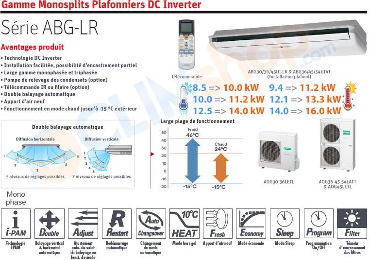 Présentation de la gamme plafonnier ABG-LR DC inverter GENERAL Fujitsu