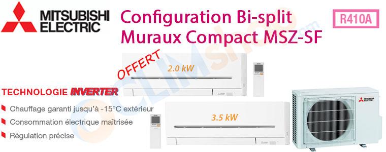 Descriptif bi-splits Mitsubishi