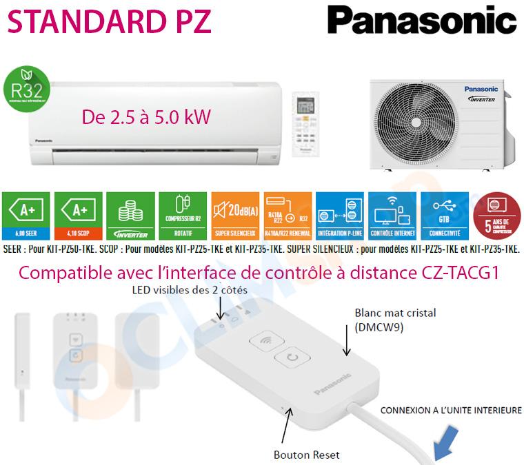 Présentation monosplit R32 Panasonic Standard PZ CS-PZ25TKE