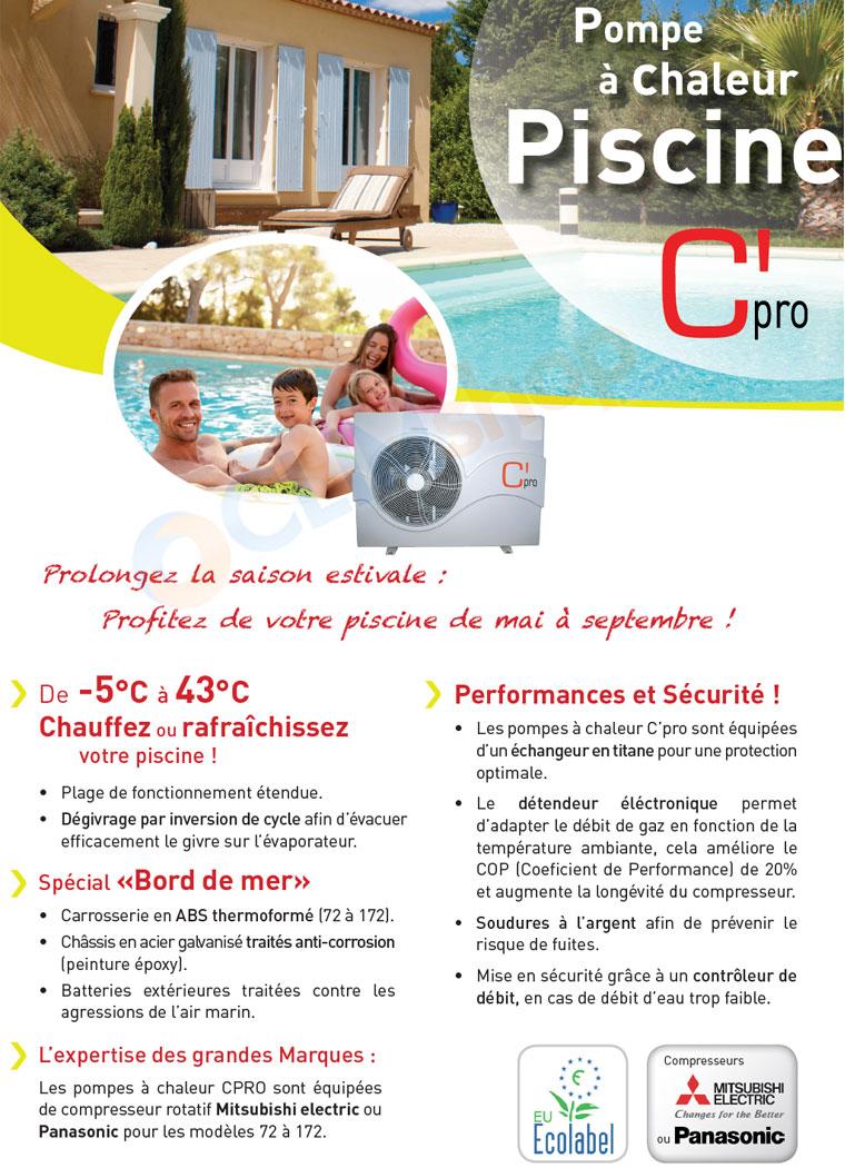 Présentation pompe à chaleur piscine C'PRO
