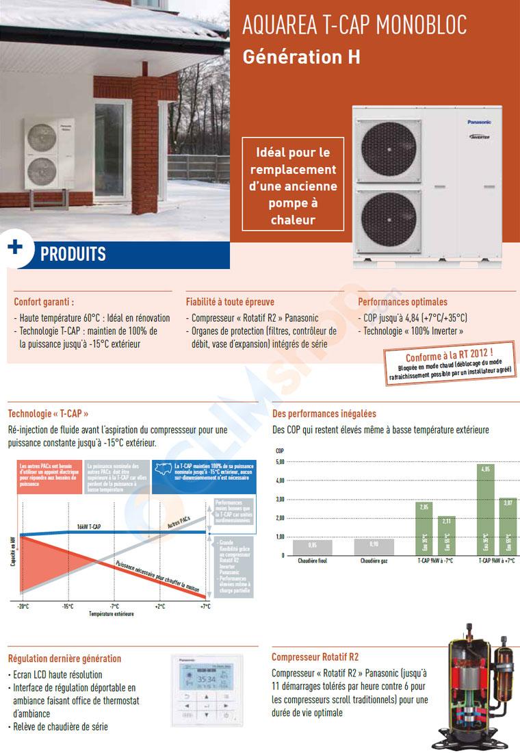 Présentation de la gamme T-PAC Air / Eau Panasonic génération H