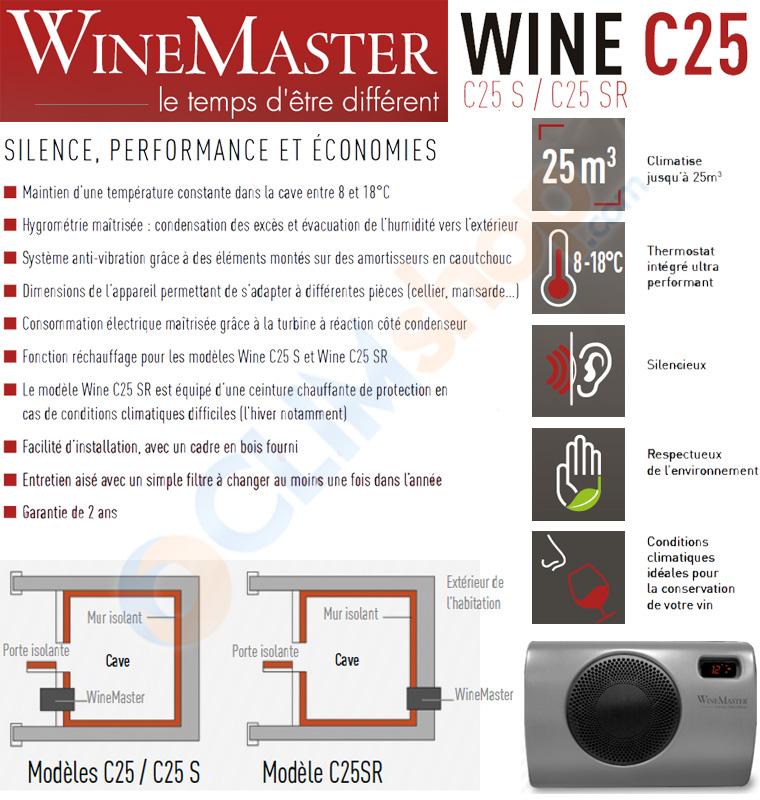 Présentation de la gamme C25 de WineMaster Fondis