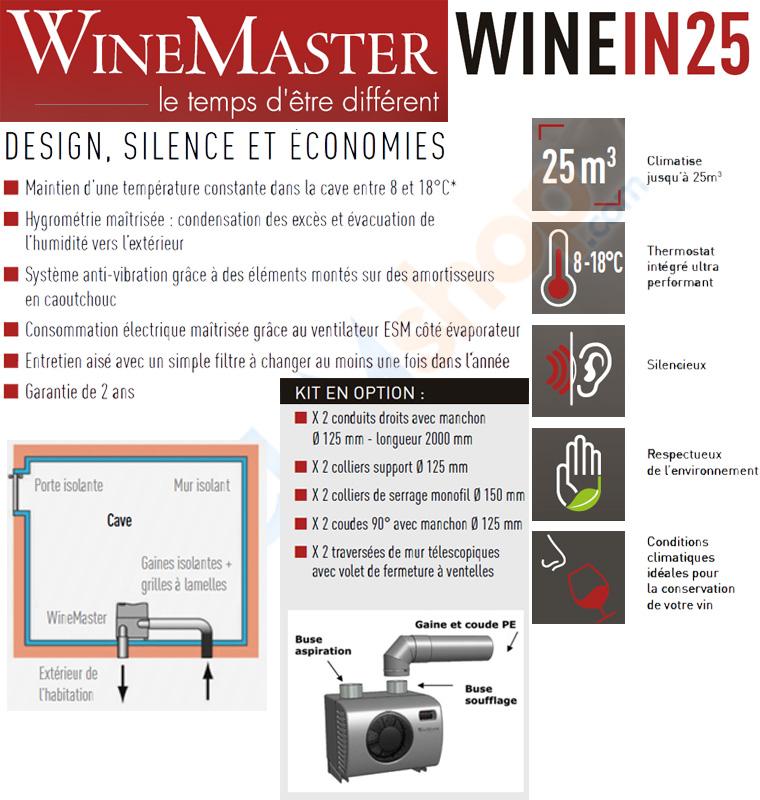 Présentation de la clim de cave à vin Wine IN25 de Fondis WineMaster