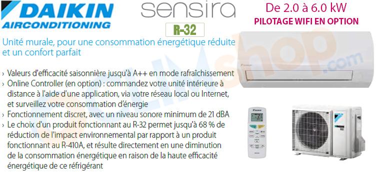 Présentation gamme climatisation Sensira FTXF-A Daikin R32