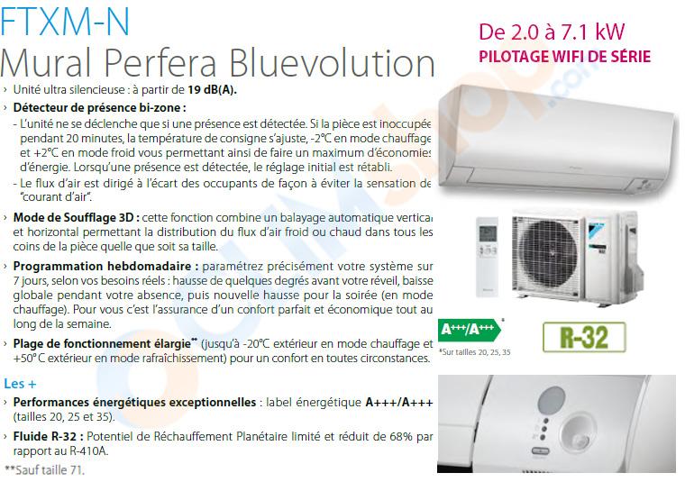 Présentation de la gamme Perfera FTXM-N de Daikin, wifi de série