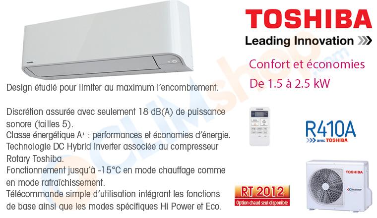Présentation déstockage gamme Miraï Toshiba R410