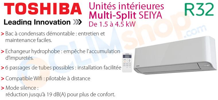 Unités intérieures multisplit Seiya compatibles R32
