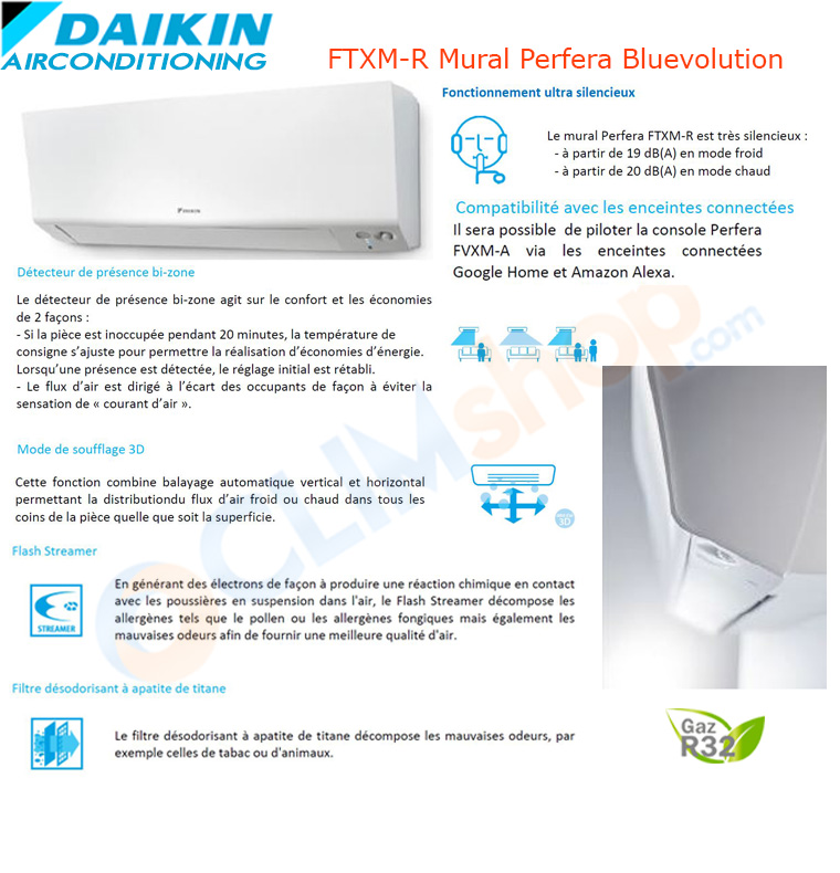 Présentation des unités intérieures de la gamme FTXM-R de Daikin avec wifi intégré