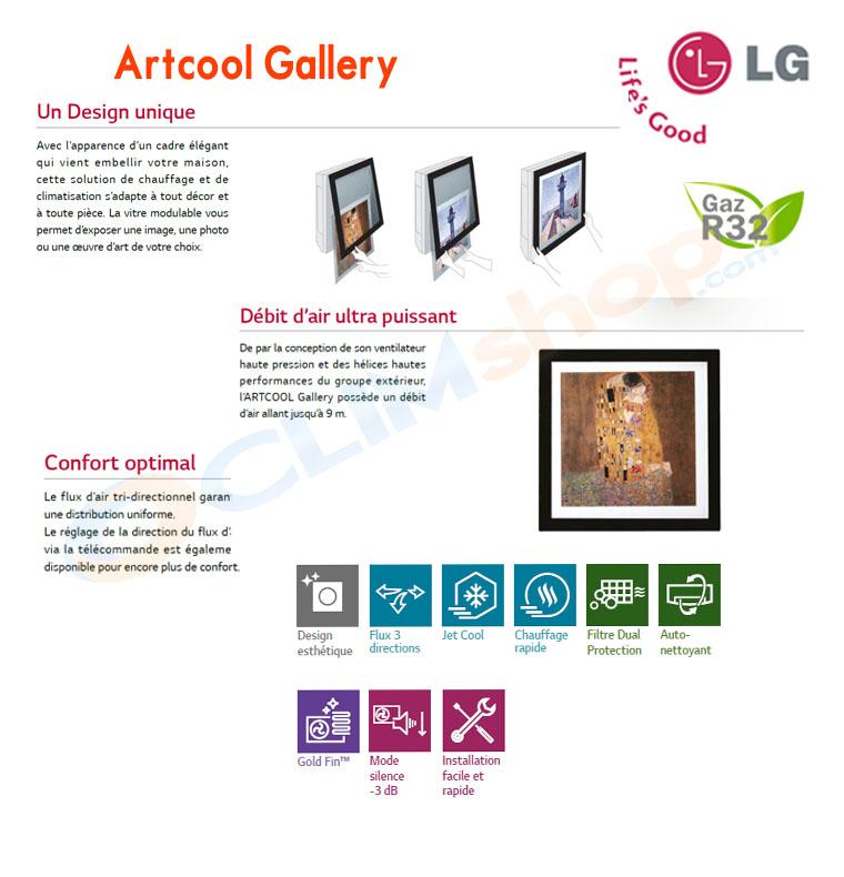 Présentation du mono split Artcool Gallery R32 LG