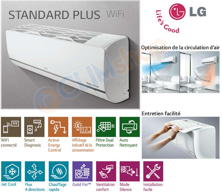 clim inverter LG wifi standard Plus