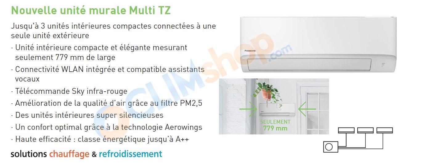 Unités intérieures multisplit TZ Ultra compacte Panasonic R32