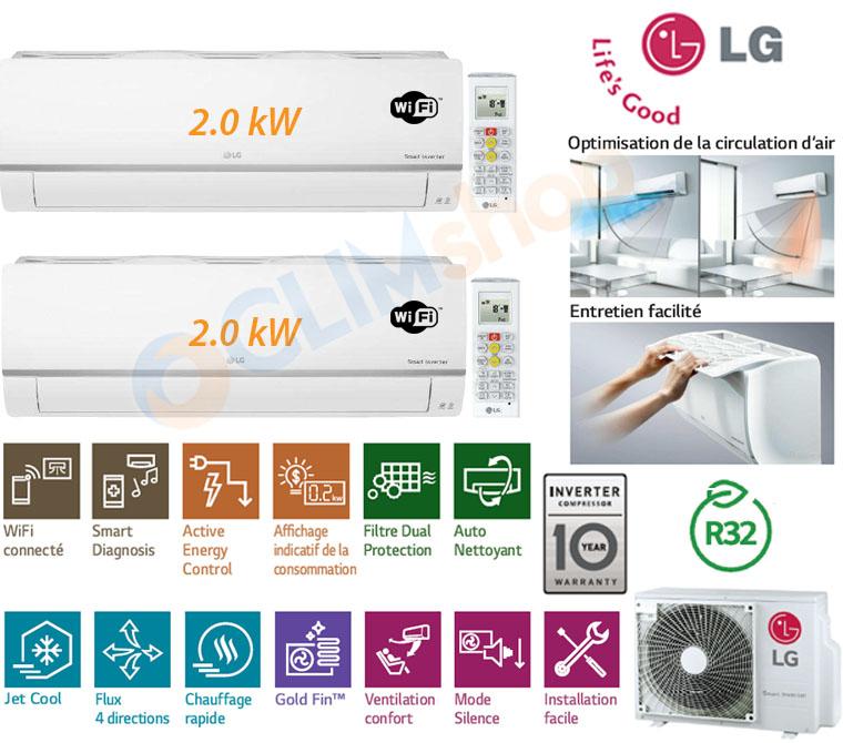 Présentation Bi-split LG MU2R15.UL0 + 2x PM07SP.NSJ