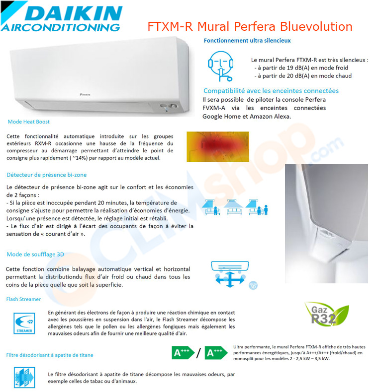 Présentation de la gamme Perfera FTXM-R de Daikin, wifi de série