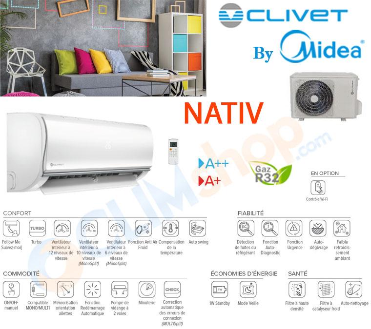 Présentation climatisation Nativ Clivet by midea