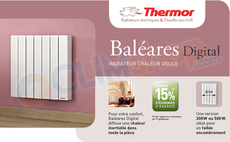 Thermor bal ares radiateur horizontal 300 2000 watts petit prix - Mode d emploi radiateur bain d huile ...