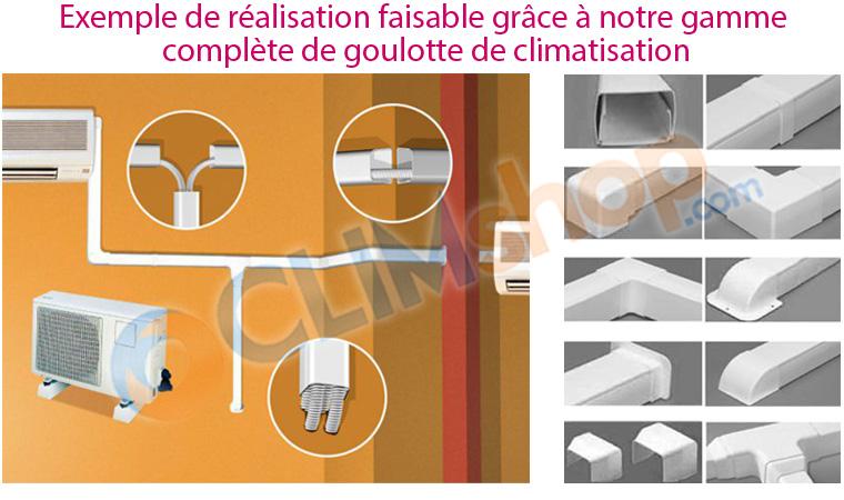 goulotte pour tuyau de condensats en pvc 25 x 25 couleur. Black Bedroom Furniture Sets. Home Design Ideas