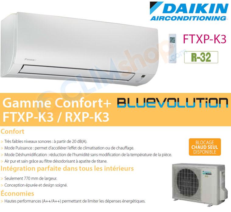 Présentation gamme climatisation FTXP-K3 Daikin R32