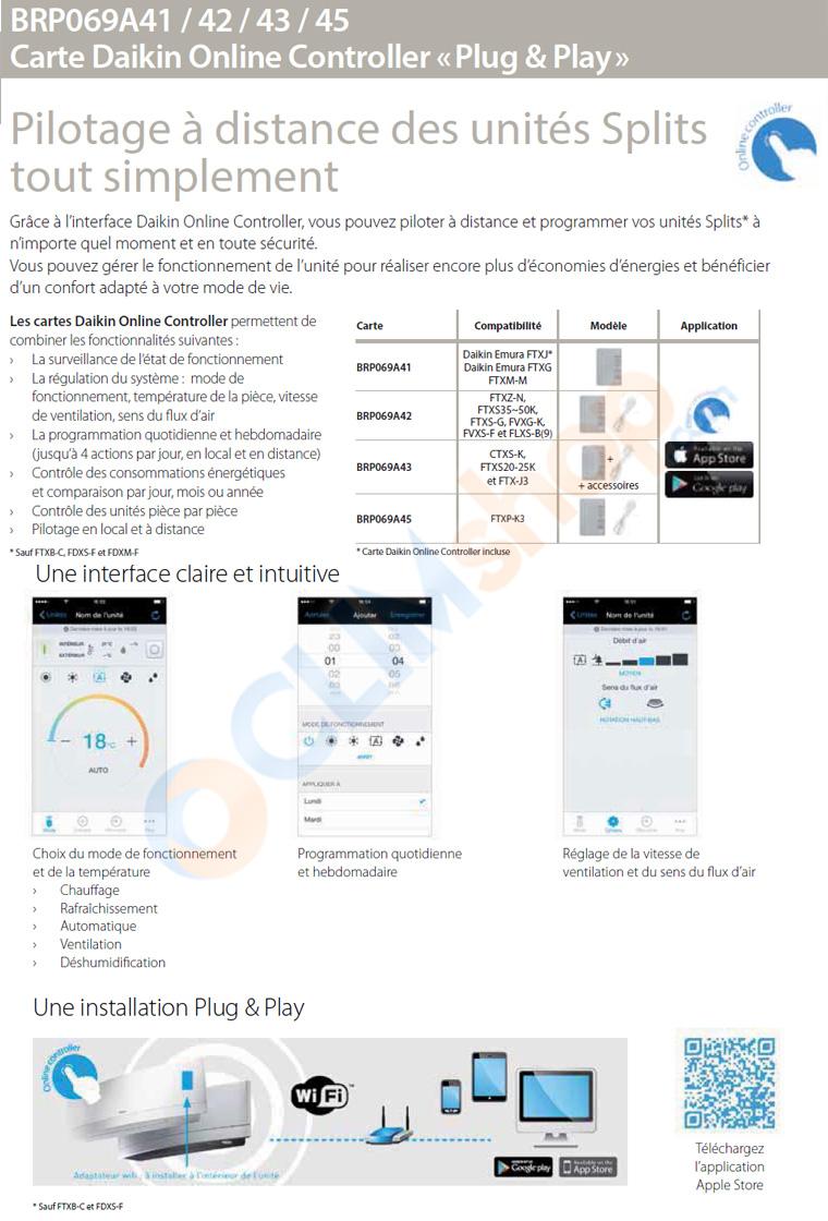 Présentation des différentes références de kits Wi-Fi Daikin pour climatisation