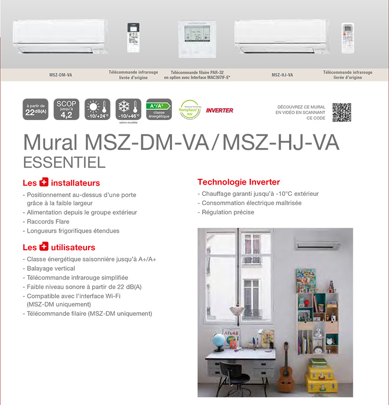 Climatiseur Mono-Split Mitsubishi Electric Msz-Dm25Va - Msz-Dm35Va