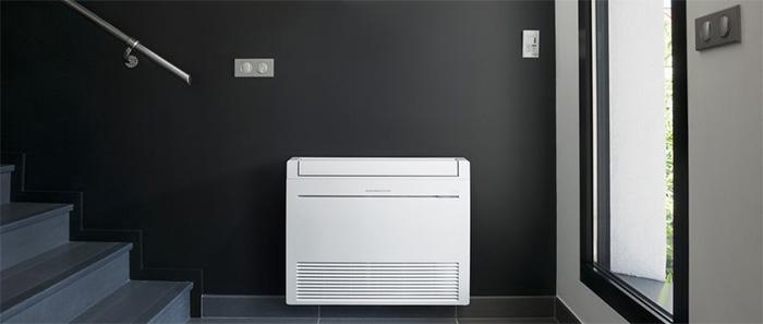 Exemple console climatisation réversible