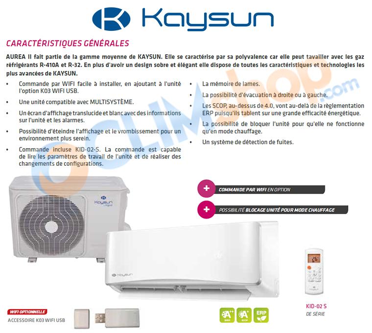 Présentation climatiseur Kaysun AUREA 2