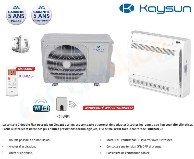 Présentation Console double flux Kaysun KSD-35 DN9 - KSD-52 DMNU8