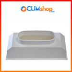 Plénum de soufflage PVC pour grille climatisation gainable