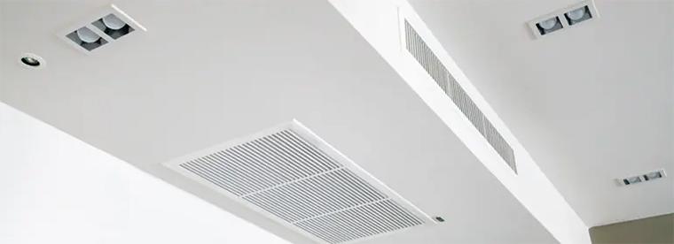 Grille de reprise climatisation gainable en faux plafond